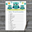 Owl Baby Word Scramble Game,Owl Baby shower games,INSTANT DOWNLOAD--367