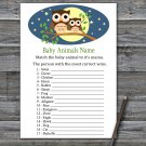 Cute Owl Baby Animals Name Game,Cute Owl Baby shower games,INSTANT DOWNLOAD--365