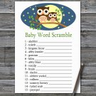 Cute Owl Baby Word Scramble Game,Cute Owl Baby shower games,INSTANT DOWNLOAD--365