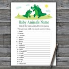 Cute Alligator Baby Animals Name Game,Cute Alligator Baby shower games,INSTANT DOWNLOAD--345