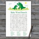 Cute Alligator Baby Shower Word Search Game,Cute Alligator Baby shower games,INSTANT DOWNLOAD--345