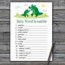 Cute Alligator Baby Word Scramble Game,Cute Alligator Baby shower games,INSTANT DOWNLOAD--345