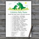 Cute Alligator Celebrity Baby Name Game,Cute Alligator Baby shower games,INSTANT DOWNLOAD--345