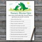 Cute Alligator Nursery Rhyme Quiz Game,Cute Alligator Baby shower games,INSTANT DOWNLOAD--345