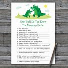 Cute Alligator How Well Do You Know Game,Cute Alligator Baby shower games,INSTANT DOWNLOAD--345