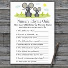 Mouse Nursery Rhyme Quiz Game,Mouse Baby shower games,INSTANT DOWNLOAD--344