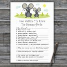 Mouse How Well Do You Know Game,Mouse Baby shower games,INSTANT DOWNLOAD--344