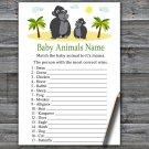 Gorilla Baby Animals Name Game,Gorilla Baby shower games,INSTANT DOWNLOAD--343