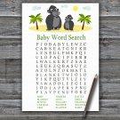 Gorilla Baby Shower Word Search Game,Gorilla Baby shower games,INSTANT DOWNLOAD--343