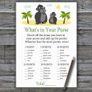 Gorilla What's In Your Purse Game,Gorilla Baby shower games,INSTANT DOWNLOAD--343