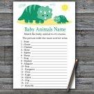Dinosaur Baby Animals Name Game,Dinosaur Baby shower games,INSTANT DOWNLOAD--342