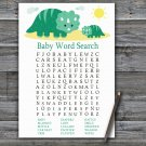 Dinosaur Baby Shower Word Search Game,Dinosaur Baby shower games,INSTANT DOWNLOAD--342