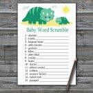 Dinosaur Baby Word Scramble Game,Dinosaur Baby shower games,INSTANT DOWNLOAD--342