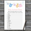 Clothesline Baby Animals Name Game,Clothesline Baby shower games,INSTANT DOWNLOAD--341
