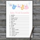 Clothesline Baby Word Scramble Game,Clothesline Baby shower games,INSTANT DOWNLOAD--341