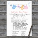 Clothesline Celebrity Baby Name Game,Clothesline Baby shower games,INSTANT DOWNLOAD--341