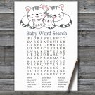 Kittens Baby Shower Word Search Game,Kittens Baby shower games,INSTANT DOWNLOAD--340