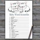 Kittens Baby Word Scramble Game,Kittens Baby shower games,INSTANT DOWNLOAD--340