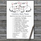 Kittens Celebrity Baby Name Game,Kittens Baby shower games,INSTANT DOWNLOAD--340