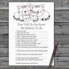 Kittens How Well Do You Know Game,Kittens Baby shower games,INSTANT DOWNLOAD--340