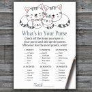 Kittens What's In Your Purse Game,Kittens Baby shower games,INSTANT DOWNLOAD--340