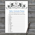French Bulldog Baby Animals Name Game,French Bulldog Baby shower games,INSTANT DOWNLOAD--339