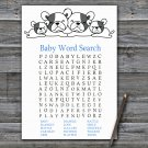 French Bulldog Baby Shower Word Search Game,French Bulldog Baby shower games,INSTANT DOWNLOAD--339