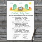 Birds and nest Celebrity Baby Name Game,Birds and nest Baby shower games,INSTANT DOWNLOAD--338