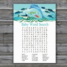 Under the sea Baby Shower Word Search Game,Dolphin Baby shower games,INSTANT DOWNLOAD--331