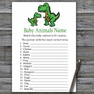Dinosaur Baby Animals Name Game,T-rex Baby shower games,INSTANT DOWNLOAD--327