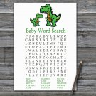 Dinosaur Baby Shower Word Search Game,T-rex Baby shower games,INSTANT DOWNLOAD--327