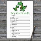 Dinosaur Baby Word Scramble Game,T-rex Baby shower games,INSTANT DOWNLOAD--327