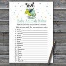 Panda Baby Animals Name Game,Panda Baby shower games,INSTANT DOWNLOAD--326