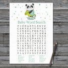 Panda Baby Shower Word Search Game,Panda Baby shower games,INSTANT DOWNLOAD--326