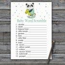 Panda Baby Word Scramble Game,Panda Baby shower games,INSTANT DOWNLOAD--326