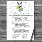 Panda Celebrity Baby Name Game,Panda Baby shower games,INSTANT DOWNLOAD--326