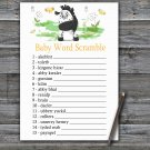 Zebra Baby Word Scramble Game,Zebra Baby shower games,INSTANT DOWNLOAD--323