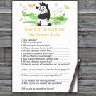 Zebra How Well Do You Know Game,Zebra Baby shower games,INSTANT DOWNLOAD--323