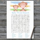 Monkey Baby Shower Word Search Game,Monkey Baby shower games,INSTANT DOWNLOAD--322