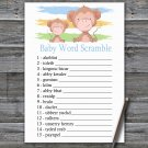 Monkey Baby Word Scramble Game,Monkey Baby shower games,INSTANT DOWNLOAD--322