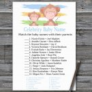 Monkey Celebrity Baby Name Game,Monkey Baby shower games,INSTANT DOWNLOAD--322