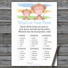 Monkey What's In Your Purse Game,Monkey Baby shower games,INSTANT DOWNLOAD--322