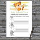 Tiger Baby Animals Name Game,Tiger Baby shower games,INSTANT DOWNLOAD--321