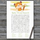Tiger Baby Shower Word Search Game,Tiger Baby shower games,INSTANT DOWNLOAD--321