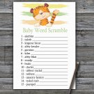 Tiger Baby Word Scramble Game,Tiger Baby shower games,INSTANT DOWNLOAD--321