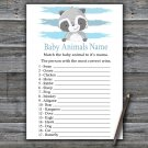 Raccoon Baby Animals Name Game,Raccoon Baby shower games,INSTANT DOWNLOAD--320
