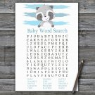Raccoon Baby Shower Word Search Game,Raccoon Baby shower games,INSTANT DOWNLOAD--320