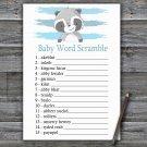 Raccoon Baby Word Scramble Game,Raccoon Baby shower games,INSTANT DOWNLOAD--320