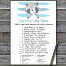 Raccoon Celebrity Baby Name Game,Raccoon Baby shower games,INSTANT DOWNLOAD--320