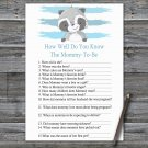 Raccoon How Well Do You Know Game,Raccoon Baby shower games,INSTANT DOWNLOAD--320